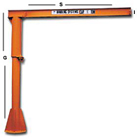 Light Duty Pillar Base Mounted Jib Cranes