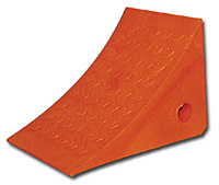 Safety Orange Molded Urethane Wheel Chocks