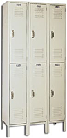 Steel Set-Up Double Tier Lockers - KD